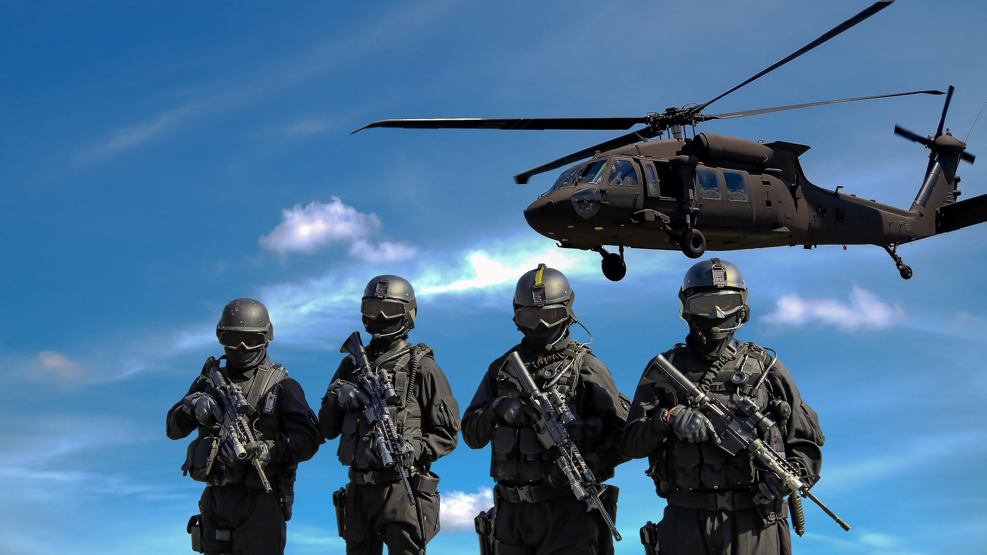 army helicopter swat team