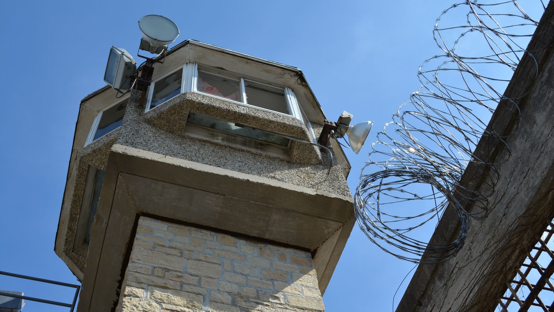 jail guard tower barbwire