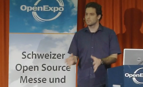 Marc Ruef an der OpenExpo 2009 in Winterthur