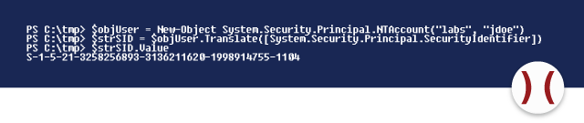 SID in PowerShell