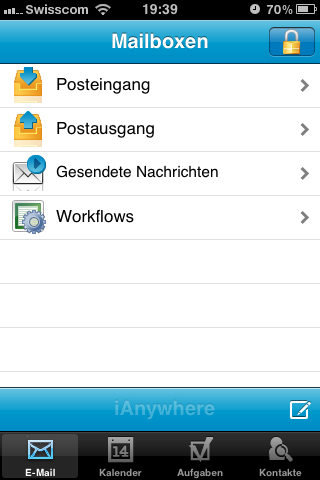 Sybase iAnywhere auf dem iPhone